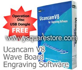 Y-square Store - Ucancam V8 (WaveBoard) CNC Engraving Software